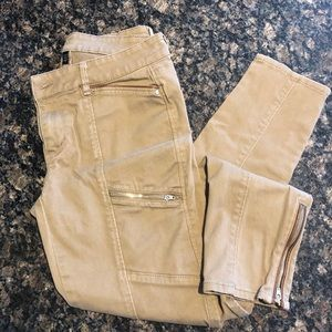 WHBM SKinny Jeans Ankle Zippers Size 4R